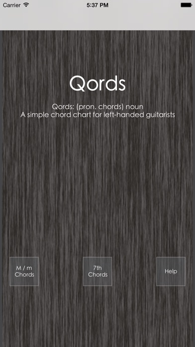 Qords: for lefties