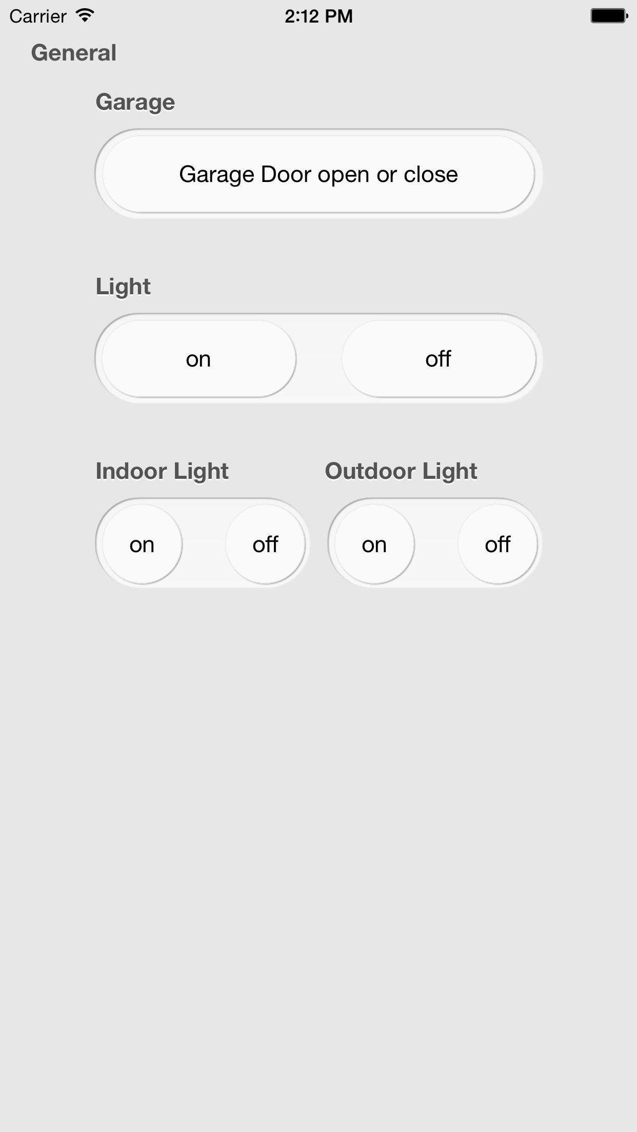 iControl Web: HTTP Remote Control for Home Automation with Raspberry Pi, Arduino and more Screenshot