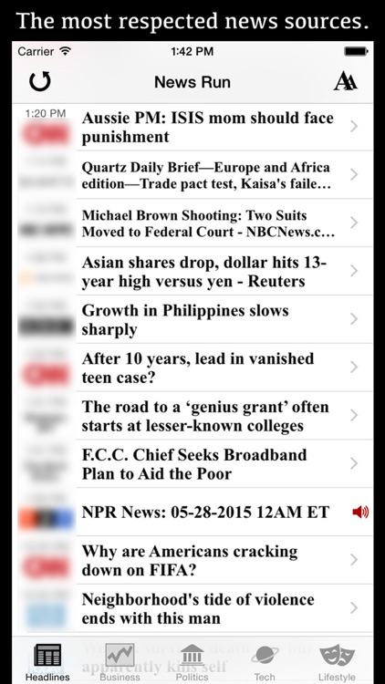 Daily Planet One: Please download our updated app, 'News Run' instead. screenshot-0