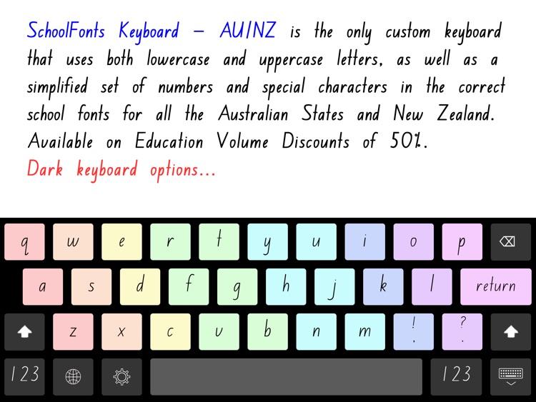SchoolFonts Keyboard - AU/NZ Lowercase and Uppercase screenshot-3