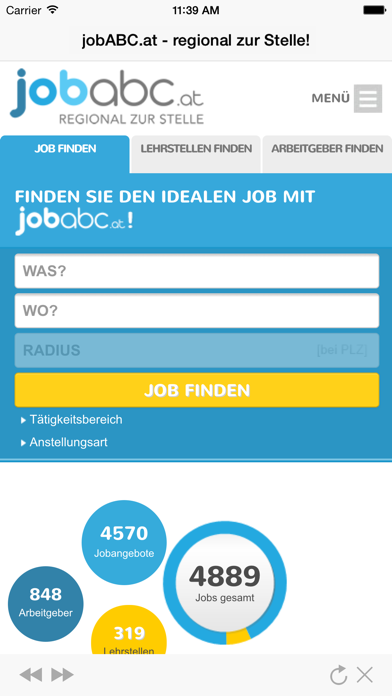 jobABC.at – regional zur Stelle! screenshot one