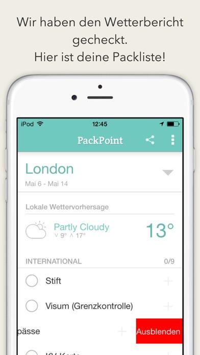 PackPoint ReisebegleiterScreenshot von 3