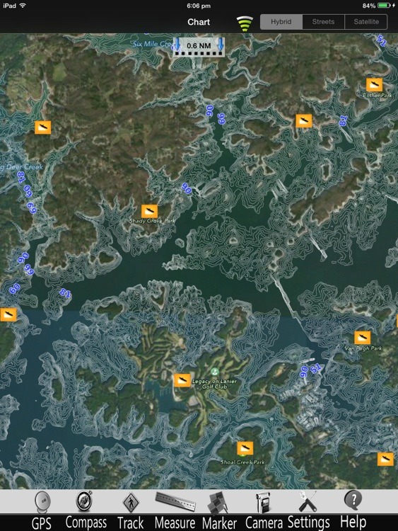 Lake Sidney Lanier Charts Pro screenshot-0