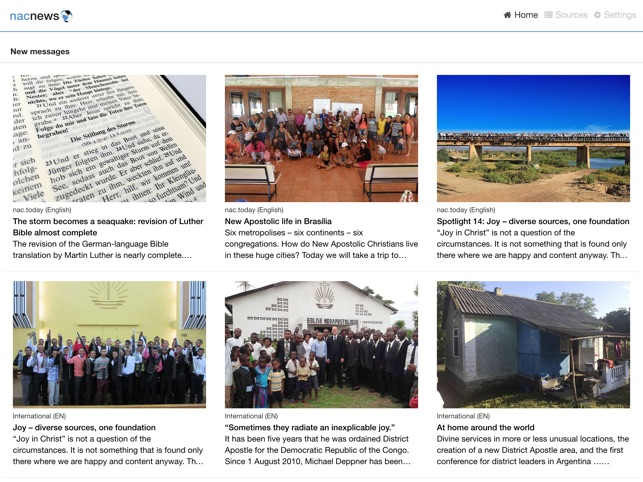 nacnews – What's new in the New Apostolic Church on the App