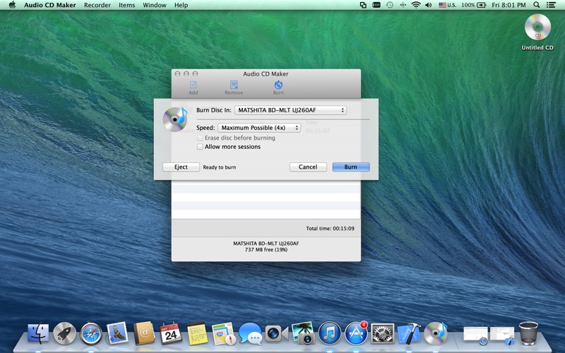 Audio CD Maker скриншот программы 1