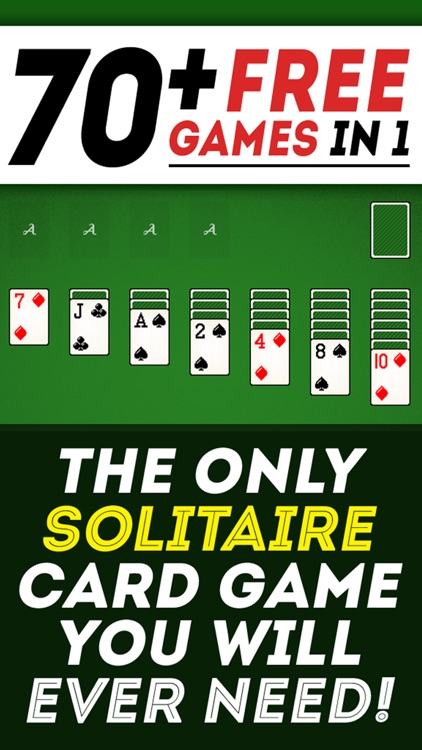 Solitaire 70+ Free Card Games in 1 Ultimate Classic Fun Pack : Spider, Klondike, FreeCell, Tri Peaks, Patience, and more for relaxing screenshot-3