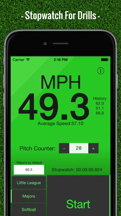 Baseball Pitch Speed - Radar Gun