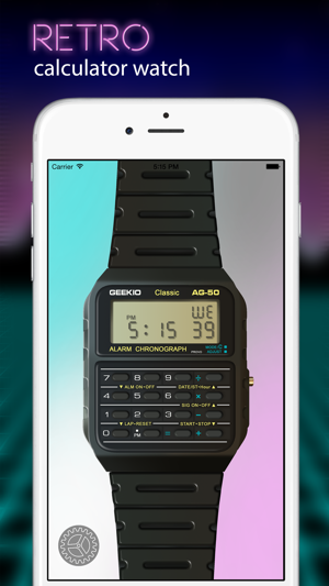 ‎Geek Watch - Retro Calculator Watch Screenshot
