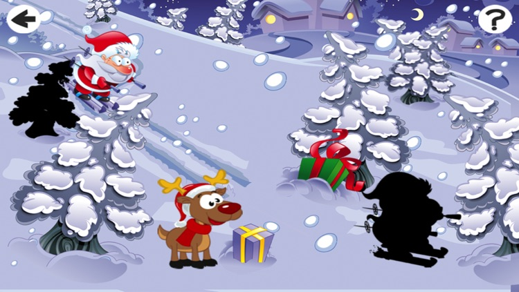 Christmas Puzzle For Small Kids: Tricky Game With Santa-Claus and Snow-Man screenshot-3