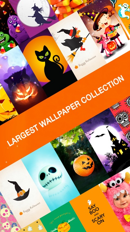Halloween HD Wallpapers ® - Spooky & Scary background of Jack-o'-lantern, costumes, pumpkin, candies, ghost & zombie