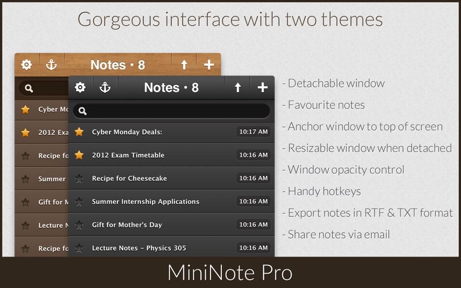 MiniNote Pro 破解版 Mac上优秀的笔记记事软件之一-麦氪派(WaitsUn.com | 爱情守望者)
