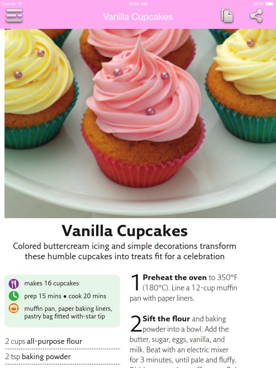 Dessert & Cake Recipes for iPad