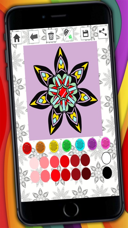 Mandalas coloring pages – Secret Garden colorfy game for adults screenshot-4