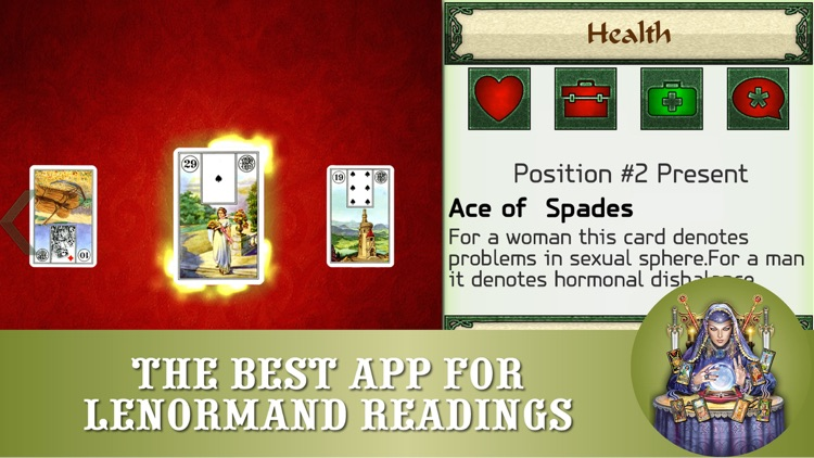 Lenormand readings - FREE cards fortunetelling and divinations app for prediction screenshot-0