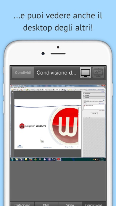 Screenshot of WebLive5