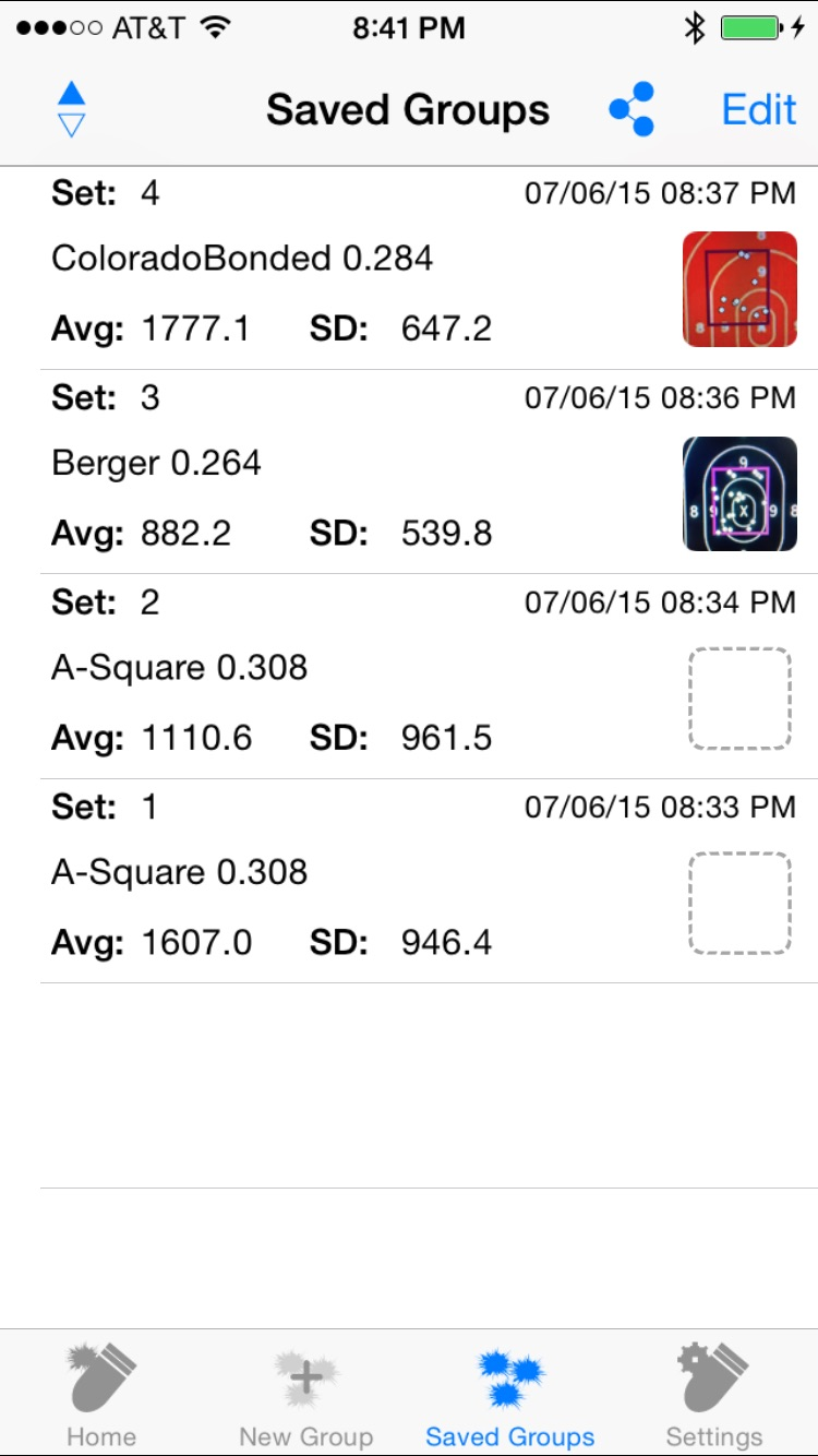 Caldwell Ballistic Precision Chronograph Screenshot