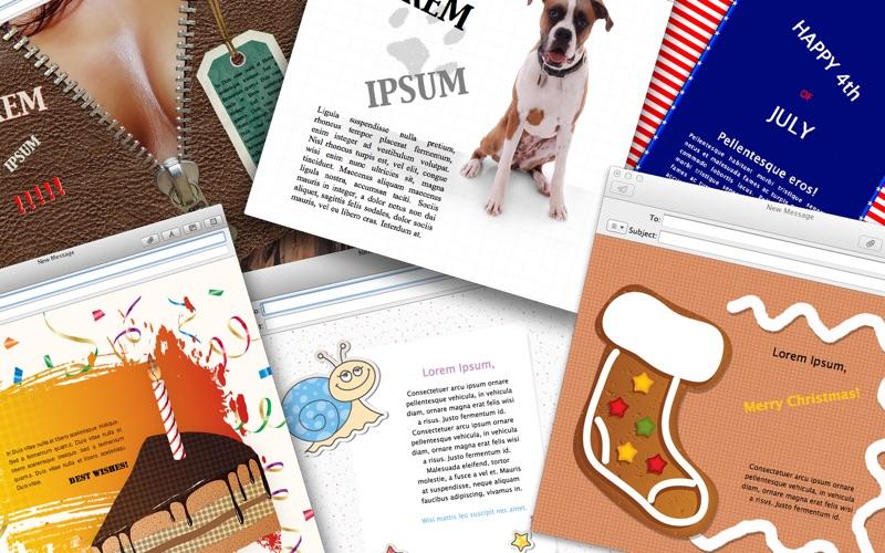 Mail Stationery Designs Screenshot