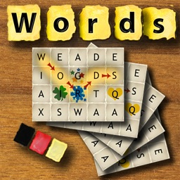 Words German - The rotating letter word search puzzle board game