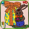 Easter coloring book for children - Coloring pages with eggs, rabbits, chickens and chicks