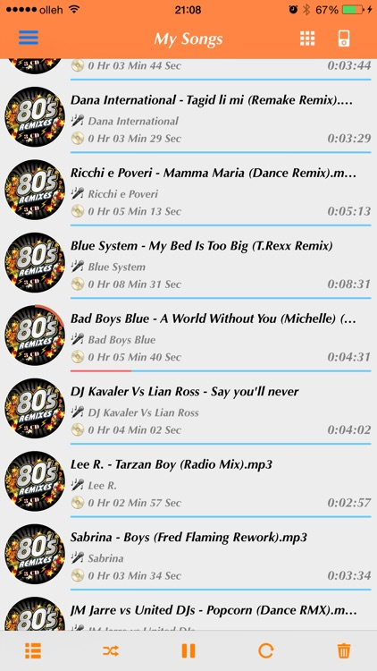 My Songs - MP3 Player (No Sync with iTunes)