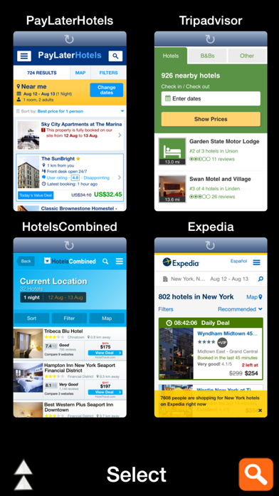 All Hotel Apps - Search all in one go.Screenshot of 2