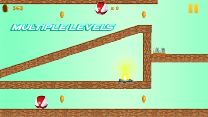 Smash Hit Red Ball Touch Spikes Screenshot on iOS