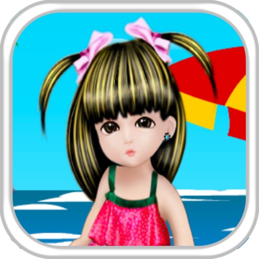 Baby On Beach Dress Up icon