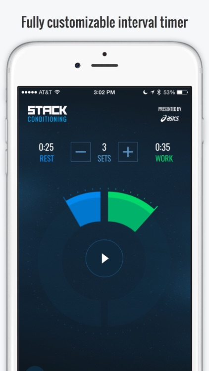STACK Conditioning Presented by ASICS - Free Interval Timer and Fitness Challenges screenshot-0