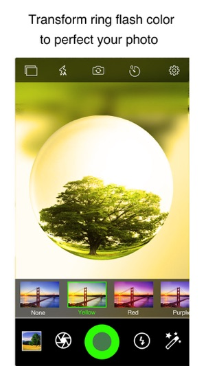 ‎iPixelCamera Free - Powerful Camera with Fisheye Lens, Old Films and Color Flashlights Screenshot
