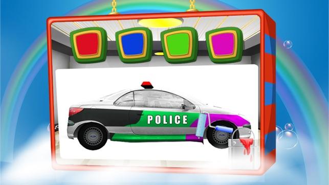 lavage de voiture de police v hicule d sordre nettoyage dans ce jeu de nettoyage automatique. Black Bedroom Furniture Sets. Home Design Ideas