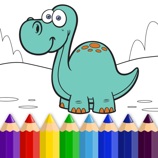 Dinosaur World - Coloring Book for Little Boys, Little Girls and Kids - Free Game