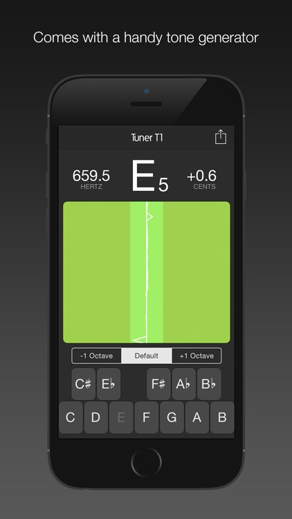 Tuner T1 – Tune any musical instrument (guitar, ukulele, violin, viola, bass, cello and more). screenshot-3