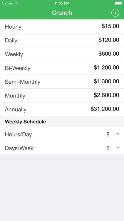 Crunch - Salary & Wage Calculator