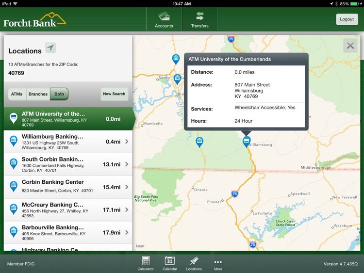 Forcht Bank Mobile Banking for iPad screenshot-4