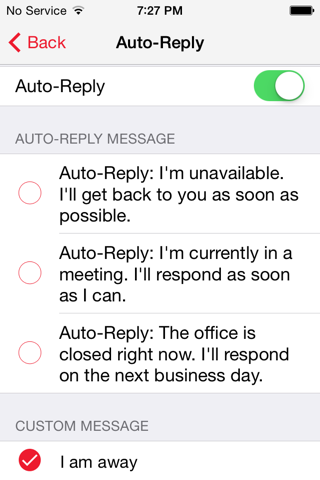 Screenshot of Avaya Messaging Service