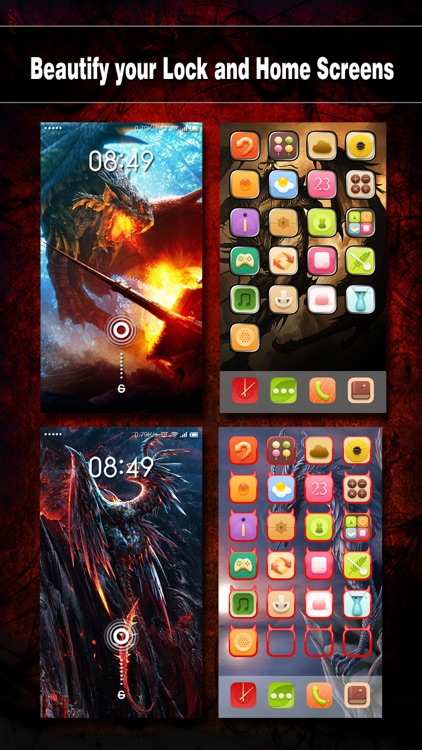 Dragon Wallpapers, Backgrounds & Themes - Home Screen Maker with Cool HD Dragon Pics for iOS 8 & iPhone 6
