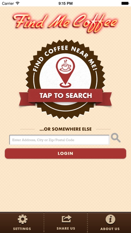 Find Me Coffee App