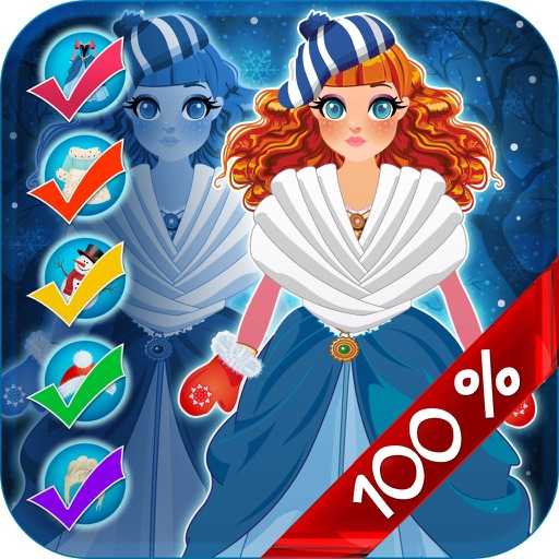 My Pretty Little Snow Princess Copy & Draw Game - Virtual World of Royal Beauty BFF Dress Up Club Edition - Free App iOS App