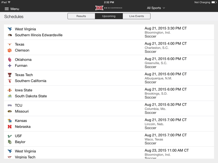 Big 12 Sports for iPad 2015 screenshot-3