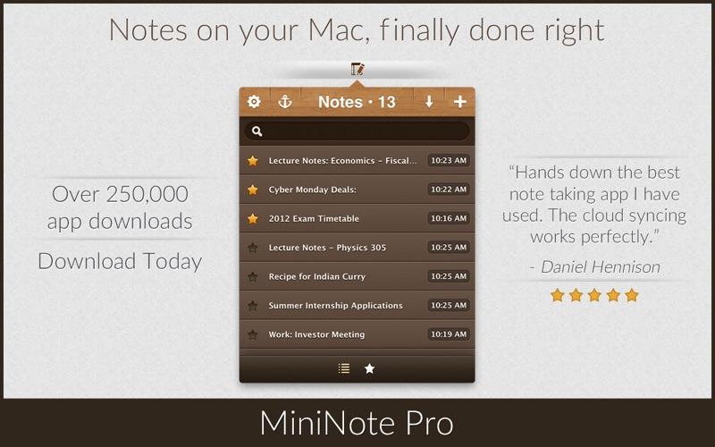 MiniNote Pro Screenshot 1