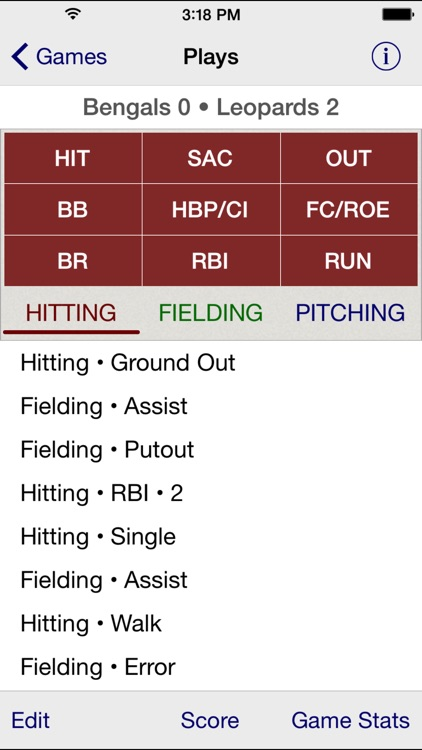 Stat Tap Baseball screenshot-1