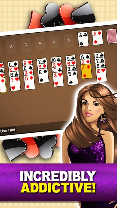Forty Eight Solitaire Free Card Game Forty Eight Classic Solitare Solo screenshot four