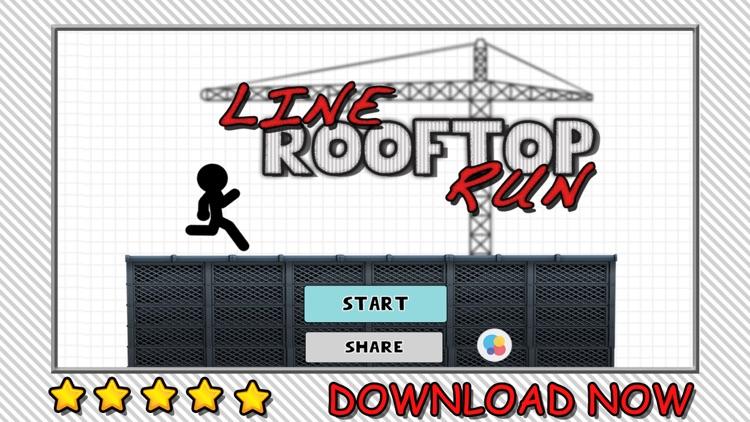 Line Rooftop Run : Stickman Escape Runner Free Edition screenshot-4