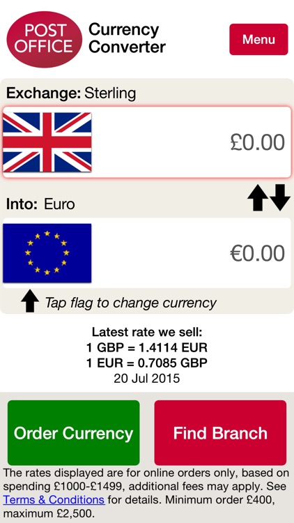 Post Office Currency Converter