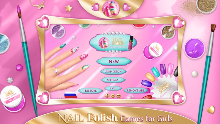 Nail Polish Games For Girls: Do Your Own Nail Art Designs in Fancy ...