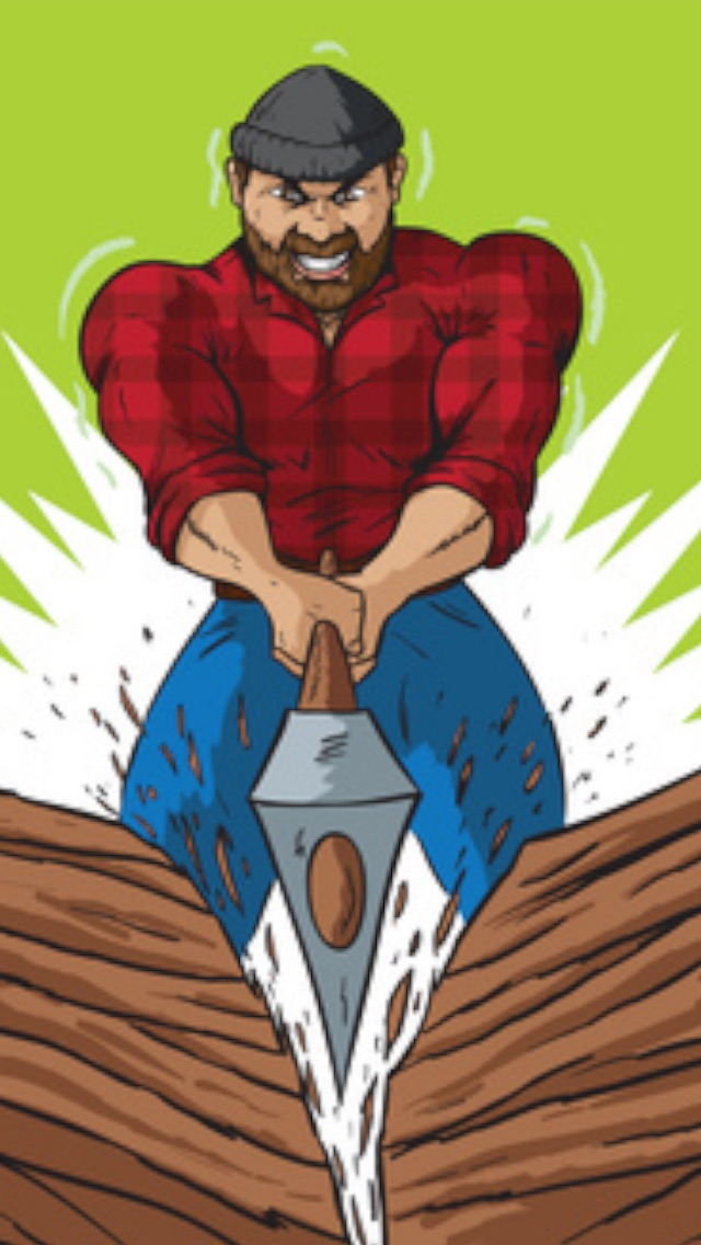 Action Timber Crunch - One man cool journey in 2 a wilderness of chop and run dirt adventure fun - Top Free Game for boys and girls! Screenshot