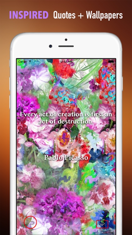 Floral Print Wallpapers HD: Personalise Quotes Backgrounds with Beautiful Patterns screenshot-3