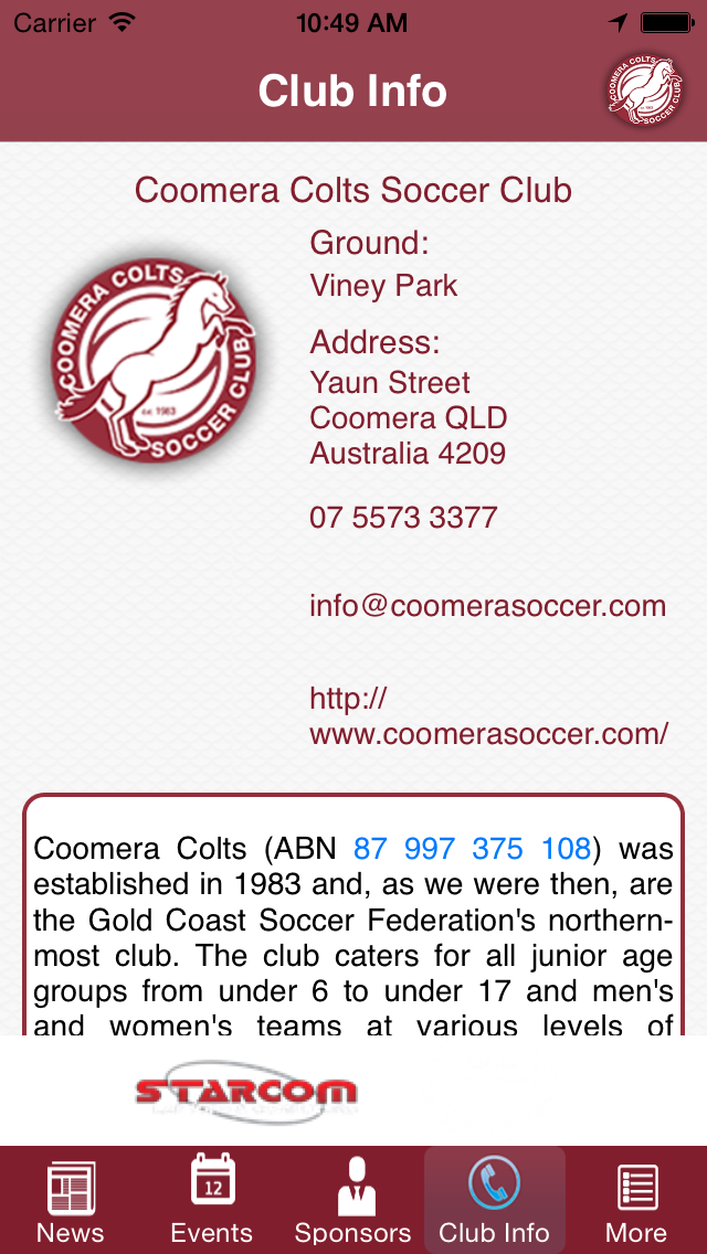 Coomera Colts Soccer Club screenshot one