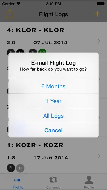 Army Aviation Flight Log screenshot-4
