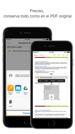 como convertir un archivo pdf a word en iphone